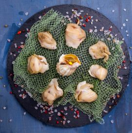 Мясо рапаны сырое отбеленное, чищенное, Черноморская