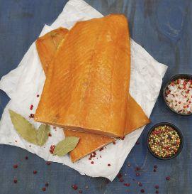 Филе лосося, натуральное копчение