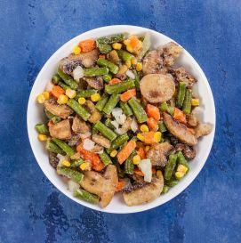 """Смесь овощная """"Лобио с грибами""""(шампиньон, фасоль стручковая, морковь, лук, кукуруза)"""